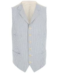 Ralph Lauren Blue Label Striped Vest - Lyst