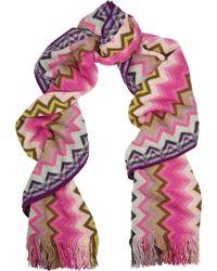 Missoni Chevron-knit Wool-blend Scarf - Lyst