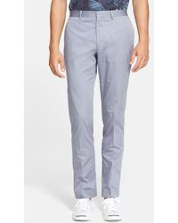 PS by Paul Smith Slim Fit Cotton Trousers - Lyst
