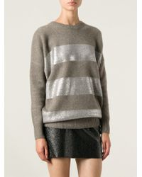 Vanessa Bruno Striped Sweater - Lyst