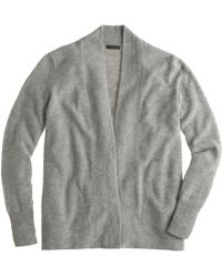 J.Crew Collection Cashmere Long Open Cardigan - Lyst