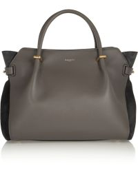 Nina Ricci Marché Leather and Suede Tote - Lyst