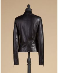 Dolce & Gabbana   Biker Jacket In Napa Lambskin With Zip   Lyst