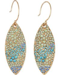 Sequin | Pave Petal Dangle Earrings | Lyst