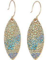 Sequin - Pave Petal Dangle Earrings - Lyst
