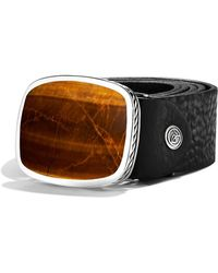 David Yurman - Exotic Stone Belt Buckle with Tigers Eye - Lyst