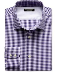 Banana Republic Slim Fit Non Iron Gingham Shirt Wild Geranium - Lyst