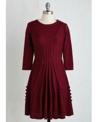 Mak - Warm Cider Dress In Burgundy - Lyst