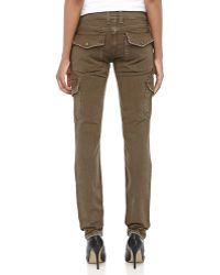 Current/Elliott Skinny Twill Cargo Pants - Lyst
