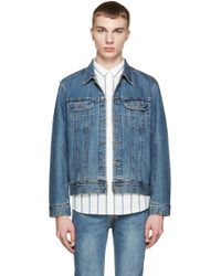 A.P.C. | Blue Denim Us Jacket | Lyst