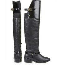 Topshop Dreamer Riding Boots  Black - Lyst