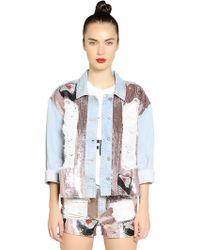 Au Jour Le Jour Embellished Cotton Denim Jacket