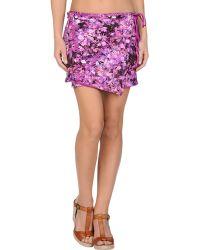 Roberto Cavalli Beachwear Sarong purple - Lyst