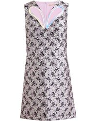 Christopher Kane Petal Cutout Jacquard Dress - Lyst