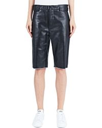 Haal - Diana Long Leather Shorts - Lyst