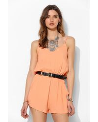 Mink Pink See The World Romper - Lyst