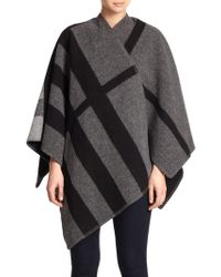 Burberry Prorsum Mega Check Cashmere & Wool Cape - Lyst