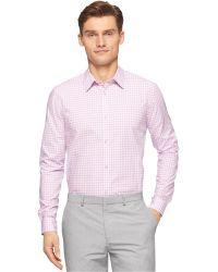 Calvin Klein Tonal Ombre Check Shirt purple - Lyst