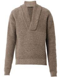 Haider Ackermann Shawlneck Knit Sweater - Lyst
