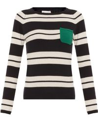 Chinti & Parker Snug Stripe Sweater with Pocket - Lyst