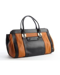 Chloé Black and Caramel Leather Top Handle Alice Bag - Lyst