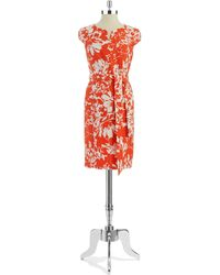 Jones New York Floral Embroidered Aline Dress - Lyst