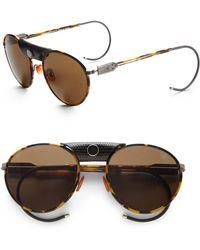 Proenza Schouler - Round Metal Acetate Sunglasseslight Tortoise - Lyst