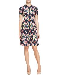 Erdem Armel Paneled Printed Dress - Lyst