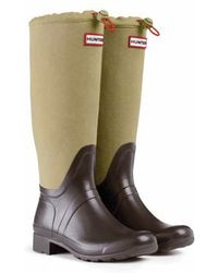 Hunter Original Packable Canvas Tour Rain Boots - Lyst