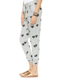 Zoe Karssen Relaxed Fit Hearts Sweatpants  Grey Heather - Lyst