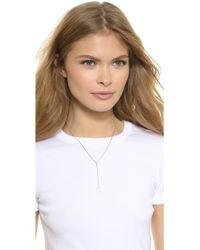 A.V. Max - Black Double Row Delicate Spike Necklace - Lyst