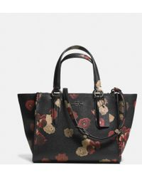 Coach Mini Crosby Carryall in Floral Print Leather - Lyst