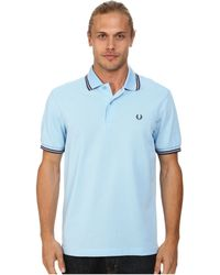 Fred Perry Twin Tipped Polo blue - Lyst