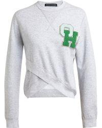 Ostwald Helgason - Varsity Logo Cotton Sweatshirt - Lyst