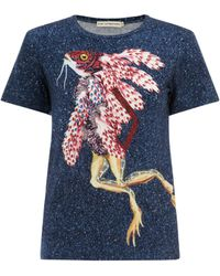 Mary Katrantzou Fitted T-Shirt Koralie blue - Lyst