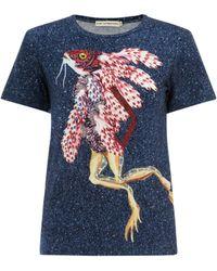 Mary Katrantzou Fitted T-Shirt Koralie - Lyst
