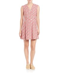Suno | Floral Pleated A-line Dress | Lyst