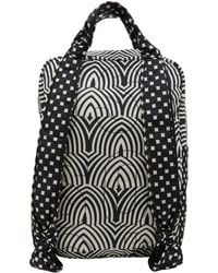 Marc By Marc Jacobs - Black and White Pretty Nylon Graphic Print Backpack - Lyst