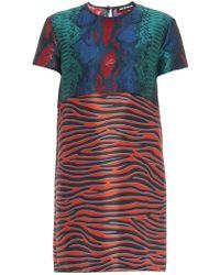 House Of Holland Snakeskin And Zebra-Print Dress - Lyst