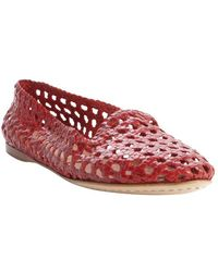 giraffe WALK - Tomato Basket Weave Perforated Leather 'agra' Flats - Lyst