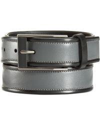 Calvin Klein Contrast Edge Leather Belt - Lyst