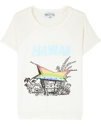 Wildfox Hawaiin Rainbow Vintage Varisty Camden Top - Lyst