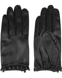 Nina Ricci Bead-Embellished Leather Gloves - Lyst