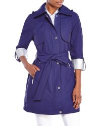 Laundry by Shelli Segal Roll Cuff Trench Coat - Lyst