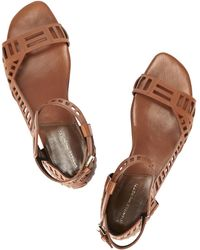 Daniele Michetti | Sui Chestnut Leather Sandals | Lyst