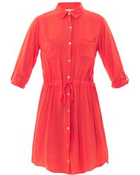 Velvet By Graham & Spencer Lily Aldridge Jessie Shirt Dress - Lyst