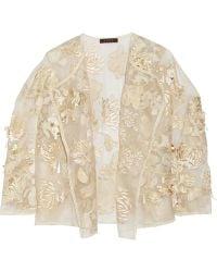Biyan Kiku Embellished Brocade And Silk-Organza Jacket - Lyst