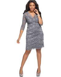 Marina - Plus Size Beaded Lace Dress - Lyst