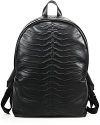 Alexander McQueen | Rib Cage Leather Backpack | Lyst
