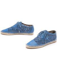Cynthia Vincent - Fatima Lace Up Espadrilles - Blue - Lyst
